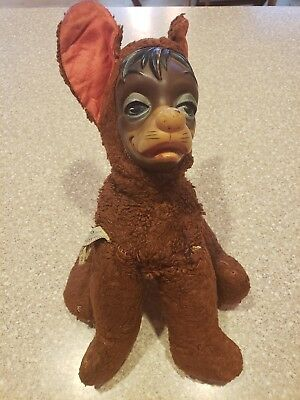 Vintage Gund Pedro Walt Disney stuffed rubber face Lady and The Tramp antique