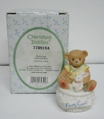 Cherished Teddies 2001  'FIRST CURL' covered box 778915A