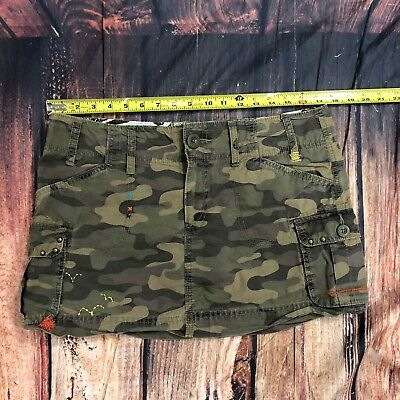 OLD NAVY Women Camo Short SKIRT Size 10 Cargo Casual Skirts 100% Cotton - C25