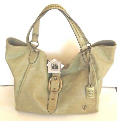 New Frye Tote Belle Bohemian Satchel Shoulder Bag Purse SOFT Moss Green NWT $498