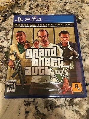 Grand Theft Auto V Sony Playstation 4 PS4 Premium Online Edition GTA FIVE NEW
