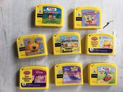 Leap Frog My First LeapPad Lot of 8 Game Cartridges ~ No Books