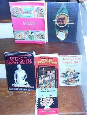 Lot Of 6 Rare Vintage Ethnic Asian Cook Books Chinese & Southeast Asian Recipes