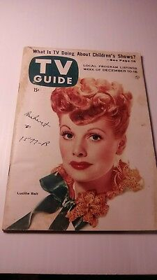 Lucille Ball 1955 Tv Guide New England Edition