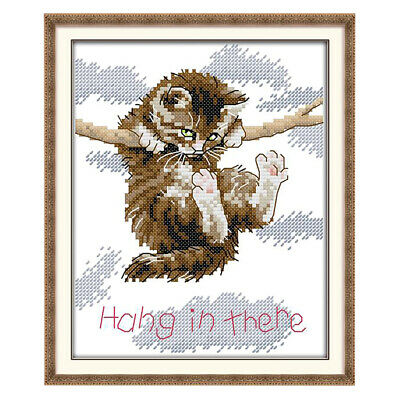 11CT 41x52cm for Embroidery Prettyia Cross Stitch Kit with Printed Pattern Lovely Cats