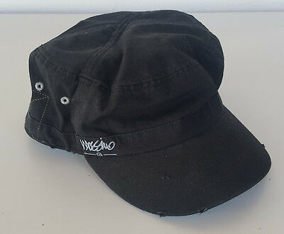 MOSSIMO Black Hat Army Military Cadet Style Cap Strap Back *Like New