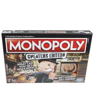 Monopoly Cheaters Edition Family Updated Classic Board Game Hasbro E1871