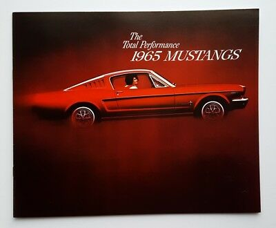 Original 1965 Ford Mustang Car Sales Brochure Fastback 2+2 Hardtop Convertible