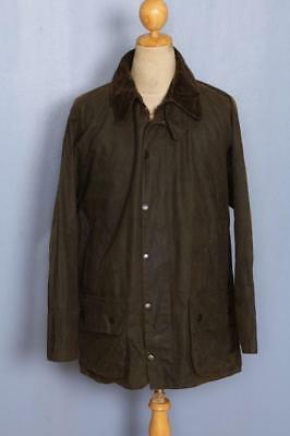 BARBOUR Classic Moorland Waxed Jacket Olive Size 42 Large