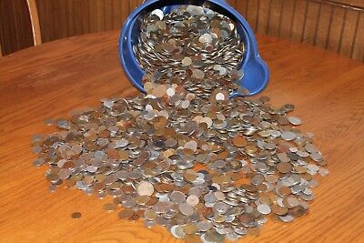 Huge lot!  5 pounds of foreign world coins from a very large collection of coins