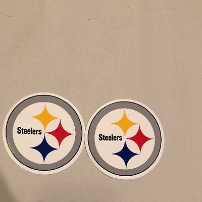 NFL Pittsburgh Steelers Logo Lot Of 2 Football Stickers