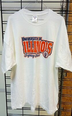 1058ce147 VINTAGE UNIVERSITY OF Illinois Chief Illiniwek Fighting Illini Large ...