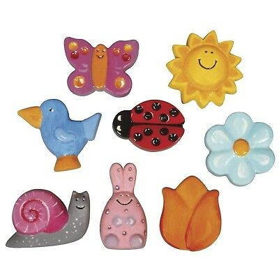 Rayher Spring Ornaments 8 Motives Casting Mould Set, Colourless, 3-5 x 23.2 x...