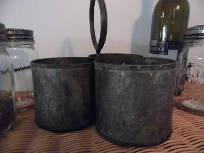 Antique Vintage Style Wrought Iron 3 Bottle Holder Table Condiment Container