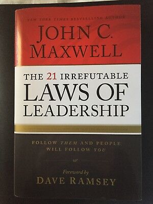 The 21 Irrefutable Laws Of Leader By John C Maxwell A Hardcover Book