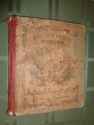 Colton & Fitch's Modern School GeographyGeorge Fitch1858 40 antique color maps