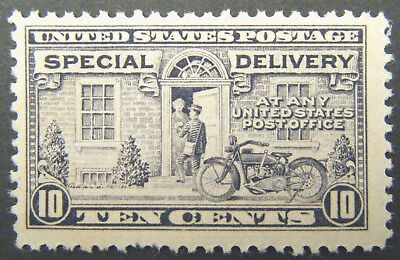 US Special Delivery Stamp 1922 10c Motorcycle Delivery Scott # E12 Mint OG NH