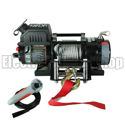 Warrior Ninja 4500lb 12v Electric Winch,Steel Rope, ATV,Utility,Trailer,Boat,New