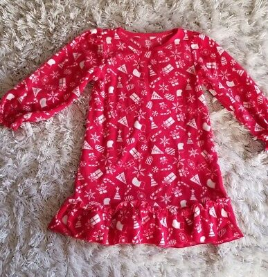 793868348 JUST ONE YOU CARTERS Red Fleece Christmas Long Sleeve Nightgown ...