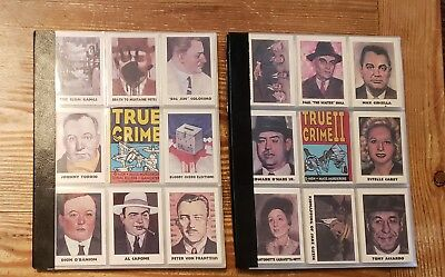 True Crime complete sets (1-220) + 4 chase cards (A,B,C,&D) IN PAGES TO DISPLAY