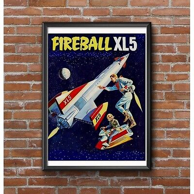 Fireball XL5 Tribute Poster - Colonel Steve Zodiac & Doctor Venus - Kids TV Show