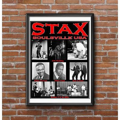 STAX tribute Poster - 1960's Soul Music-Otis Redding-Sam & Dave-Booker T & MGs