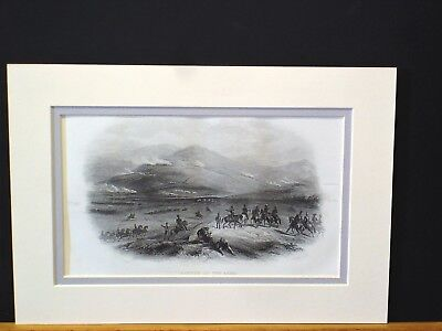 Battle of the Alma - Crimea    C1860 steel engraving  J. Cantrill engraver