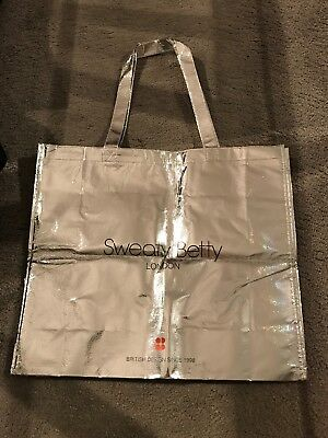 SWEATY BETTY Limited Edition 20th Anniversary Silver Tote Bag (BRAND NEW)