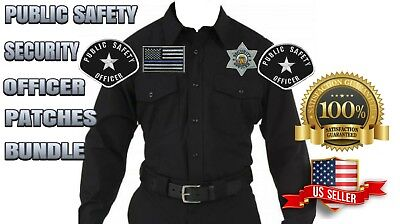 Public Safety Private Security Officer Shoulder Chest Hat Cap Patches Bundle
