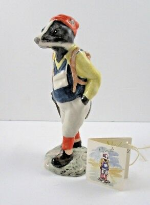 Beswick English Country Folk HIKING BADGER Figurine with tag
