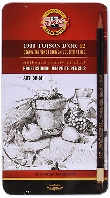 KOH-I-NOOR TOISON D'OR 8B-8H Graphite Pencil (Pack of 12)