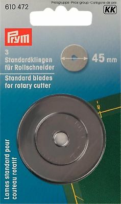 Prym 45 mm Spare Blades for Rotary Cutter Maxi/Comfort/ Multi/Omnicut