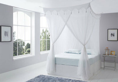 Decorative Cotton Box Mosquito Net Bed Canopy King Size 100% Top Quality Cotton