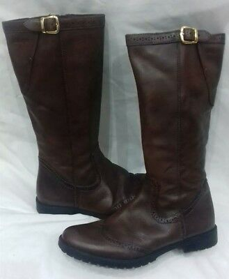 3e9f462a21 Geox Lovely Ladies brown leather boots UK size 5 Heel height 0.7 inches