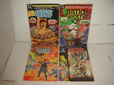 America Vs The Justice Society #1 - #4 - Complete Set - Nm/m Copies - 1985