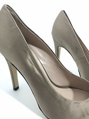 a036afc5c8 REISS Designer Party Womens Gold Satin High Heel Shoes EU40 UK 6.5 Nearly  New