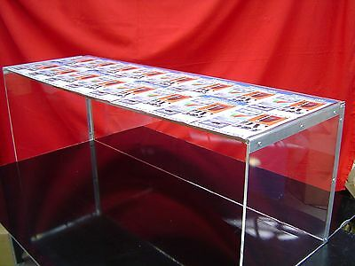 Collapsible Acrylic Sneeze Guard Display Case 950mm x 350mm x 350mm. Aussie Made