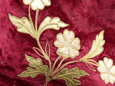 Frontal valance 19th-century French antique gold embroidery