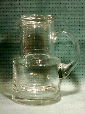 Tiffany Co Crystal Water Pitcher And Gl Bed Side Set Excellent Condition