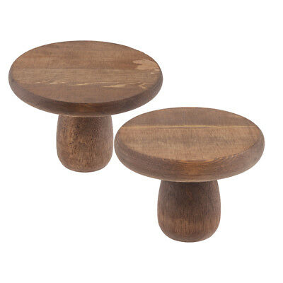 2xWood Wedding Cake Stand Round Handmade Party Display Pedestal Plate Coffee