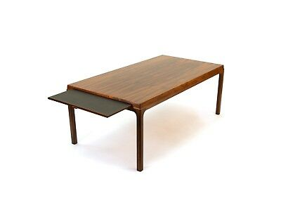 Expanding Danish Rosewood Coffee Table with Pull Out Shelf. Free Shipping