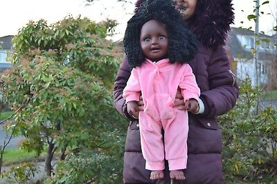 """Giant Heavy Large 20"""" Black African Doll Baby Abigail Girls Doll 51Cm Afro Doll"""