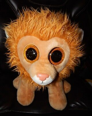 004d95b1d70 TY Beanie Boo Louie Lion RARE RETIRED Jumbo Plush 13