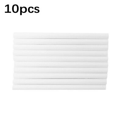 10 Pcs White Cotton Stick Filters Air Humidifier Aroma Diffuser Replace Parts