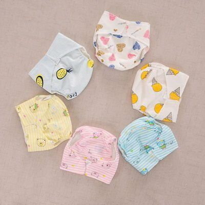 Newborn Baby Kids Washable Reusable Soft Cotton Nappy Cover Cloth Cartoon Diaper