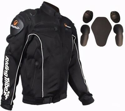 Motocross motorcycle Bicycle racing jacket Armor JACKETS with 5 pcs pads