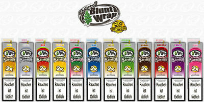 Pack of 12 Blunt Wrap Double Platinum Premium All Flavour ( 12 x 2 In a Pack)