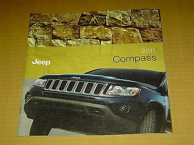 2011 Jeep Compass Sales Brochure Mint! 26 Pages