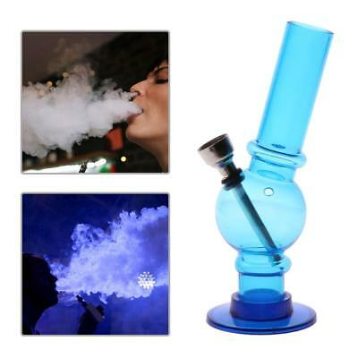 Portable Hookah Water Bong Herb Acrylic Smoking Pipe Kits Shisha Tobacco BLUE