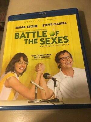 Battle of the Sexes, Blu-ray + DVD, NEW, No Digital